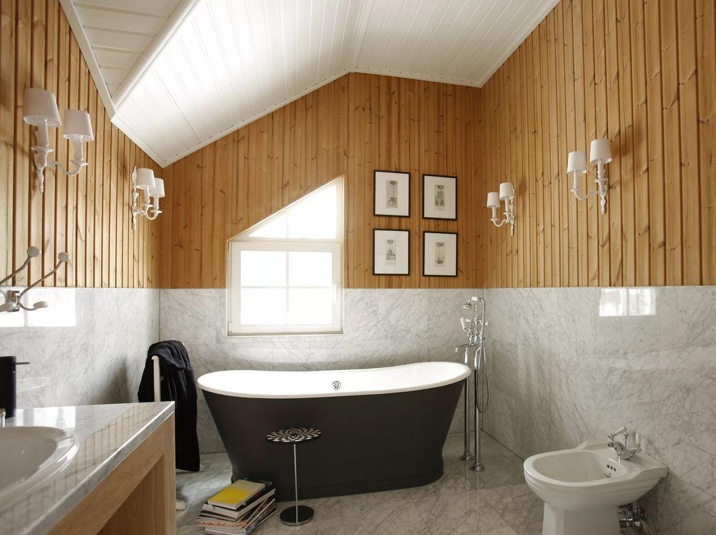 отделка ванной вагонкой
