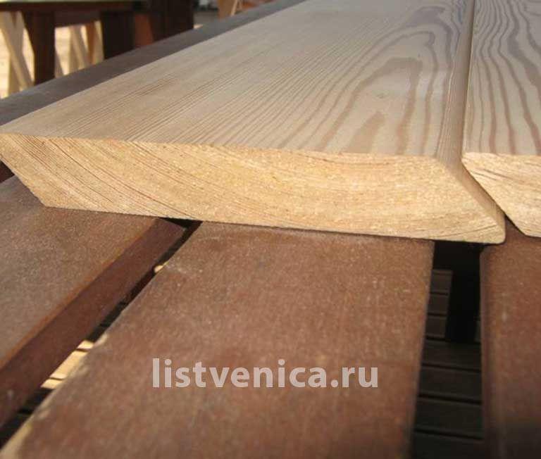 Планкен скошенный из лиственницы - сорт C (20мм×120мм×4м)