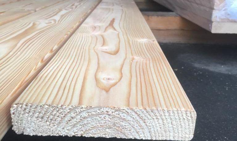Палубная доска из лиственницы - сорт B 3м