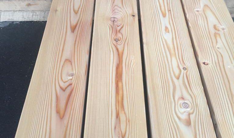 Палубная доска из лиственницы - сорт B 6м