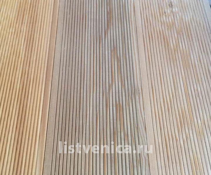 Террасная доска из Лиственницы - сорт Прима (28мм×142мм×4м)