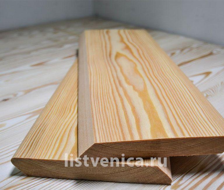 Планкен скошенный из лиственницы - сорт Экстра (20мм×120мм×4м)