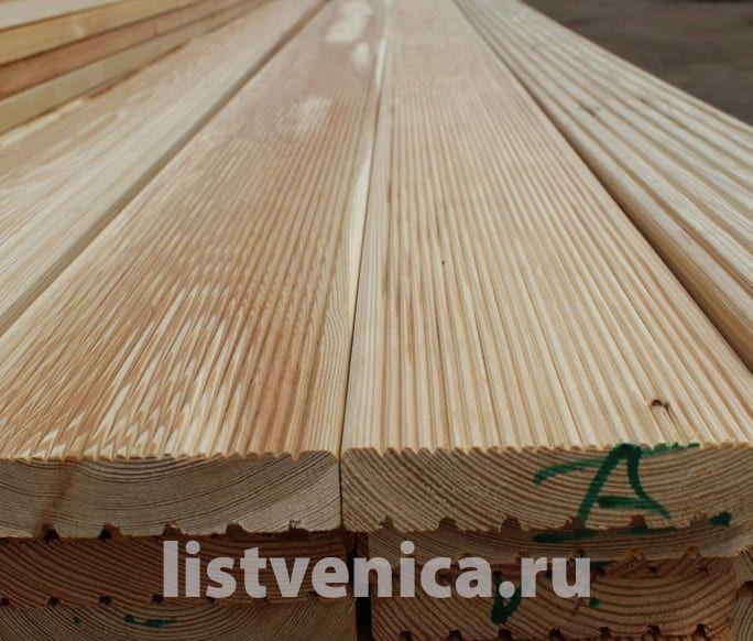 Террасная доска из Лиственницы - сорт A (28мм×142мм×4м)