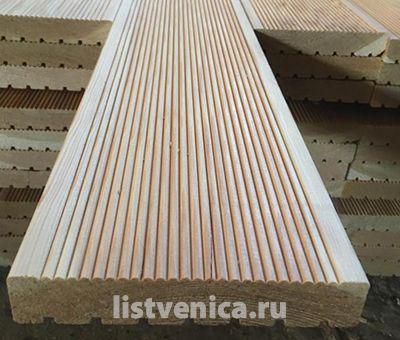 Террасная доска из Лиственницы - сорт B (28мм×142мм×6м)