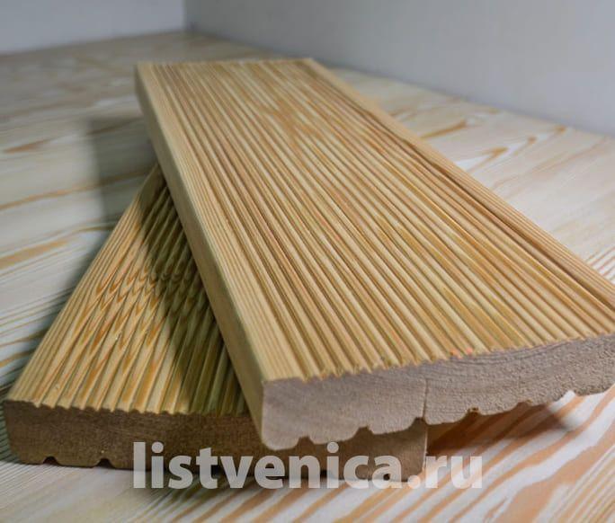 Террасная доска из Лиственницы - сорт B (28мм×142мм×4м)