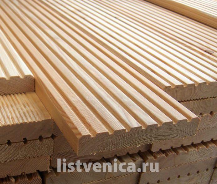 Террасная доска из Лиственницы - сорт Экстра (28мм×142мм×4м)