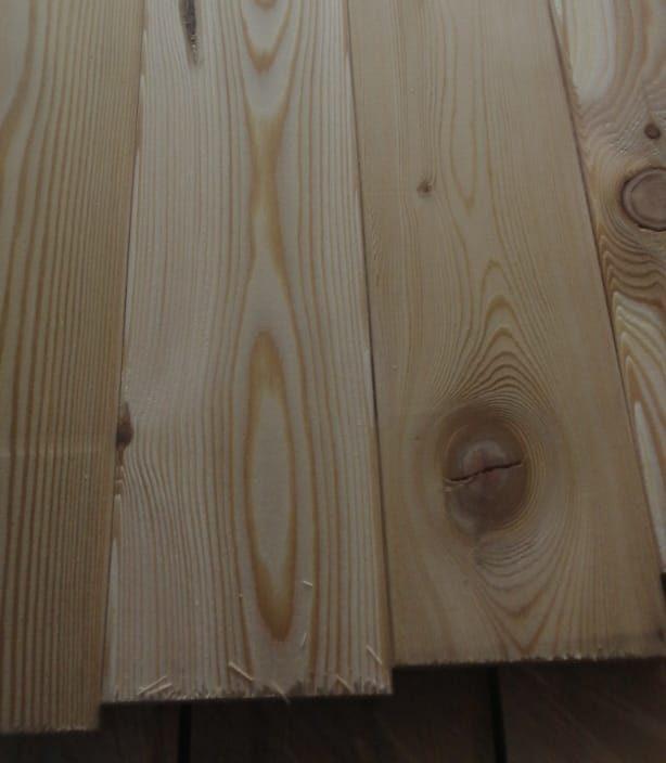 Вагонка из лиственницы - сорт C (14мм×96мм×3м)