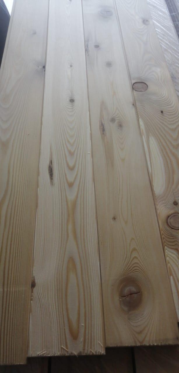 Вагонка из лиственницы - сорт B (14мм×120мм×3м)